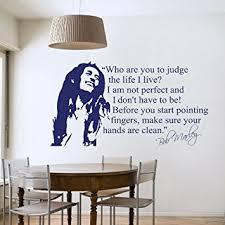 chambre bob marley sticker mural décoratif pour salon ou chambre format medium bob