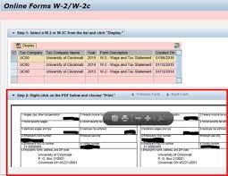 University Of Cincinnati Help Desk Accessing Your W 2 In Ucflex