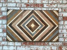 chevron wood wall wood sculpture reclaimed wood wood