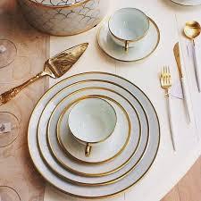limoges legle premium white gold dinner set beautiful table ware