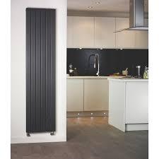moretti modena vertical designer radiator matt charcoal 1500 x