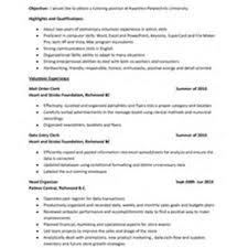 Tutor Resume Volunteer Experience Resume