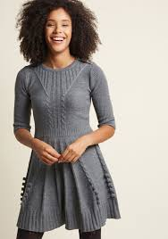 warm cider sweater dress in ash modcloth