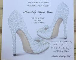 custom bridal shower invitations bridal shower invitations shoe theme bridal shower bridal