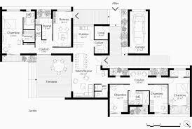 plan maison 6 chambres plain pied plan maison plain pied 4 chambres avec suite parentale luxe plan