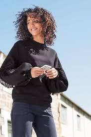 black fringe sweater buy black fringe sweater from the uk shop