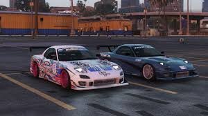 mazda rx7 fast and furious mazda rx7 veilside fortune add on replace livery gta5 mods com