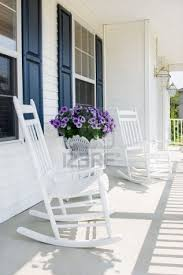 Front Porch Patio Furniture by Front Porch And White Rocking Chairs Outdoor Spaces For The