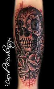 rebel muse tattoos skull black and gray skull and roses