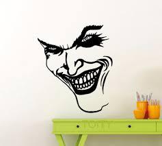 online buy wholesale pop smile from china pop smile wholesalers joker smile wall sticker dc marvel comics superhero vinyl decal home interior decoration pop art mural