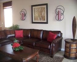 Reddish Brown Leather Sofa Living Room Design Ideas Brown Leather Sofa Artsy
