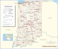 Map United States City Names by Map Of Indiana
