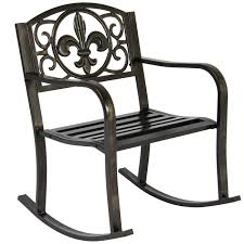 Rocking Chair Seat Replacement Patio Metal Rocking Chair Porch Seat Deck Outdoor Backyard Glider