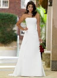 turmec plain strapless wedding dress