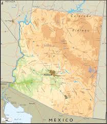 Az City Map Physical Map Of Arizona Ezilon Maps