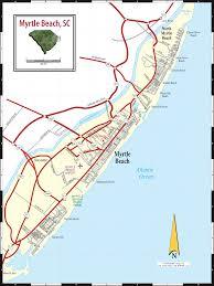 road map of south carolina myrtle sc map