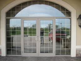 Business Front Doors by Simple Business Glass Front Door Brushed Stainless Steel For