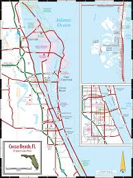 Florida Beach Map by Cocoa Beach U0026 Florida Space Coast Map