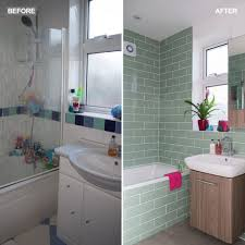 wallpaper designs for bathrooms green bathroom makeover with tropical wallpaper