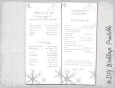 winter wedding programs silver blue ivory snowflake winter wedding program winter