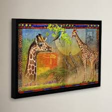 art deco giraffe ring holder images African wall art wayfair jpg