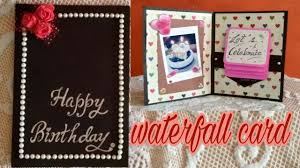 waterfall birthday card how to make waterfall card tutorial