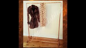 rose gold copper pipe clothes rail stand luxury home decor youtube