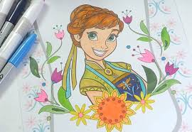 disney frozen coloring book princess anna coloring pages kids