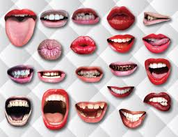 20 Lips Photo Booth Printable Props Funny Mouth Realistic