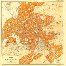 Athens Map Map Of Athens 1896 Drawing By Mountain Dreams