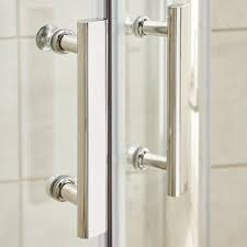 ice chrome 700mm hinged shower door ice chrome contemporary