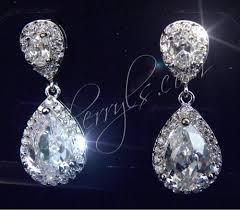 jim earrings small teardrop cz earrings from jim jewelery