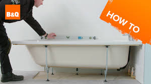 Installing Bathtub How To Install A Standard Acrylic Bath Youtube