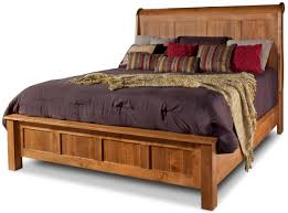 King Sleigh Bedroom Sets by Daniel U0027s Amish Lewiston King Sleigh Bed With Low Footboard John