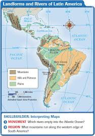 africa map landforms america landforms and resources