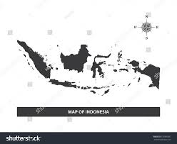 Map Rose Map Indonesia Black Wind Rose Compass Stock Vector 533996581