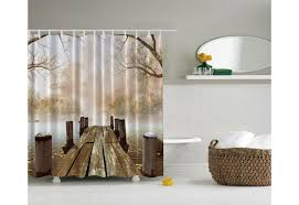 dock on the shower curtain