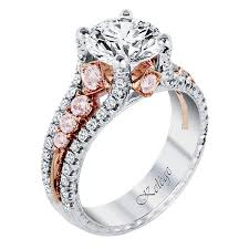 platinum diamonds rings images Kpr 587 3 platinum and rose gold engagement ring jack kel ge png