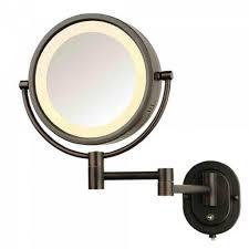 bathroom tabletop vanity table with lights around mirror best