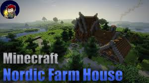 farm house minecraft nordic farm house minecraft build tutorial youtube