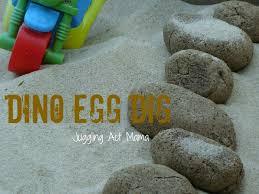 dino egg dig juggling act mama