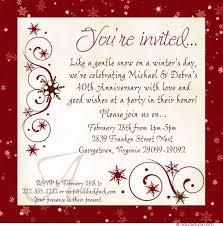 40th anniversary invitations winter anniversary invitations event snowflake colors