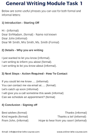 Sample Essay Informal Letter Ielts General Letter Writing Tips And Useful Phrases Ielts
