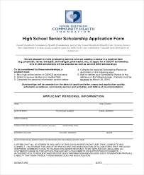 9 sample scholarship application forms free sample example format