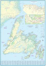 Newfoundland Canada Map by Maps For Travel City Maps Road Maps Guides Globes Topographic