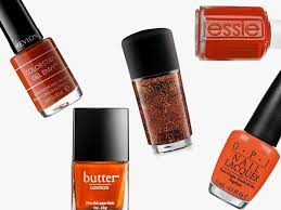 burnt orange is official nail color of fall 2017 hypebae
