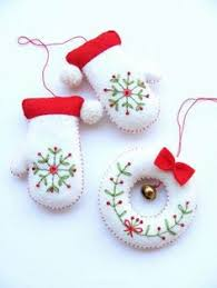 felt christmas ornaments note start before december for best