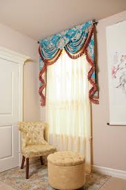 Blue Swag Curtains Picture Of Blue Lantern Swags And Pelmet Valance Curtain Drapes
