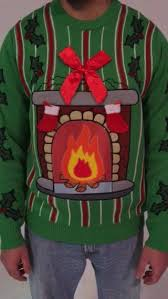 sweaters that light up led fireplace sweater