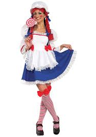 costumes ideas for adults cheery rag doll costume womens raggedy costume ideas